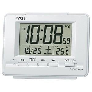 セイコー 電波目覚まし時計 NR535H (白パール)...
