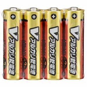 オーム電機 アルカリ乾電池単三4本パック LR...の関連商品1