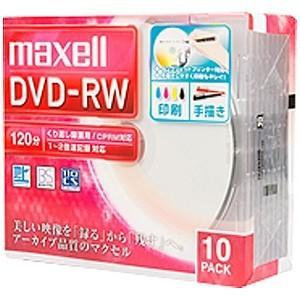 マクセル 録画用DVD-RW 1〜2倍速 10枚...の商品画像