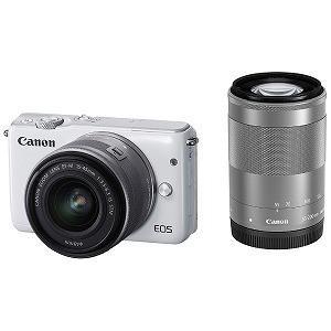 Canon EOS M10「ダブルズームキット」(ホワイト/ミラーレス一眼) EOSM10WHWZK