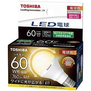 東芝 電球型LED LDA7LGE17S60W