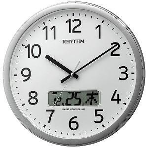リズム時計工業 電波掛け時計 「プログラムカレンダー01SR」  4FNA01SR19...