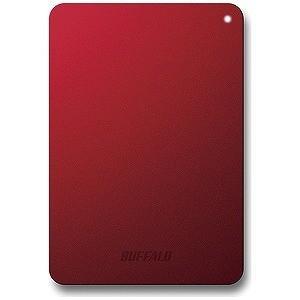 バッファロー ポータブルHDD 1TB HD‐PNF1.0U3‐BRD (レッド)