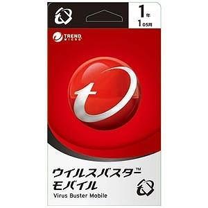 トレンドマイクロ モバイル用セキュリティソフト ウイルスバスターモバイル ライブカード (1年版)