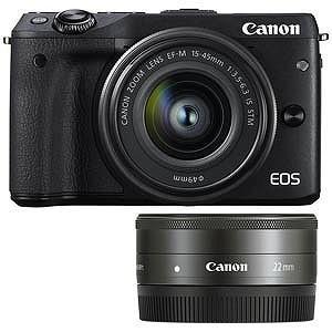 Canon ミラーレス一眼カメラ EOS  M3「ダブルレンズキット2」(ブラック/ミラーレス一眼)