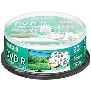 マクセル 録画用 DVD−R 1−16倍速 4.7GB 20枚「インクジェットプリンタ対応」 DRD120WPE.20SP