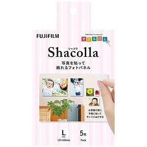 富士フィルム シャコラ(shacolla)壁タイプ 5枚パック Lサイズ WDKABEALL5P|y-kojima