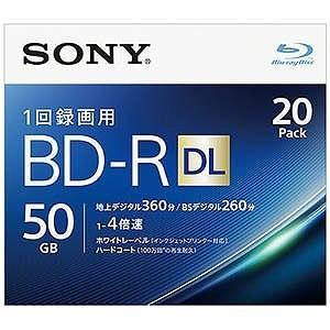 ソニー 録画用BD−R DL Ver.1.2 1−4倍速 50GB 20枚【インクジェットプリンタ対応】 20BNR2VJPS4