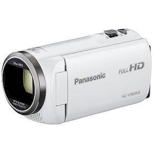 パナソニック SD対応 16GBメモリー内蔵フルハイビジョンビデオカメラ HC−V360MS−W (ホワイト)