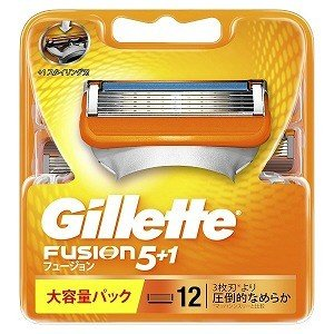 ジレット ジレット フュージョン 5+1 替刃 12個入 GRフユジョン5+1カエバ12B