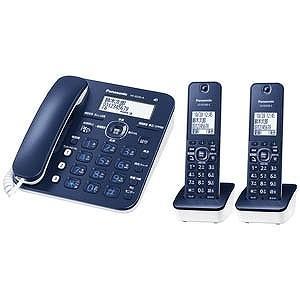 パナソニック (子機2台)デジタルコードレス電話機「RU・RU・RU(ル・ル・ル)」 VE−GZ30DW−A(ネイビーブルー) y-kojima