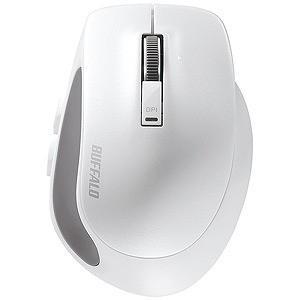 バッファロー Bluetooth3.0 BlueLED光学式 5ボタン Sサイズ BSMBB500SWH (ホワイト)