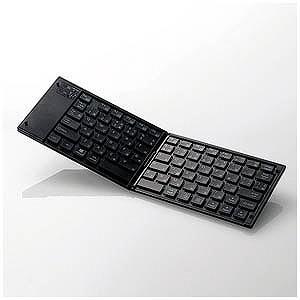 エレコム (スマホ/タブレット対応)ワイヤレスキーボード タブレットスタンド付き(日本語79キー) TK−FLP01BK (ブラック)|y-kojima