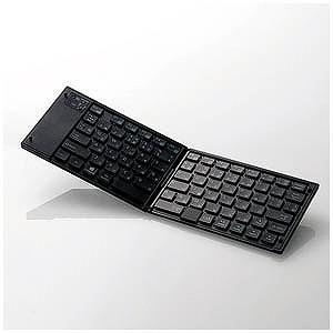 エレコム (スマホ/タブレット対応)ワイヤレスキーボード タッチパッド搭載(日本語78キー) TK−FLP01PBK (ブラック)|y-kojima