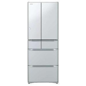 日立6ドア冷蔵庫 (475L・フレンチドア)R‐F48M1‐XS (クリスタルシルバー)(標準設置無料)