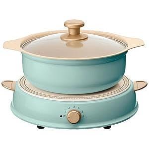 アイリスオーヤマ 卓上型IH調理器鍋セット 「ricopa」(1口) IHLPR14‐AA (アッシュブルー)|y-kojima