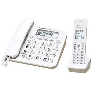 パナソニック (子機1台)デジタルコードレス留守番電話機 VE−GZ20DL−W|y-kojima