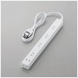 エレコム ほこり防止シャッター付きスリム電源タップ(幅広・2ピン式・6個口・1.0m) T−NSL−...