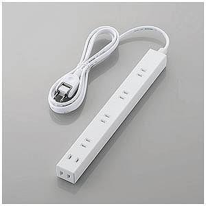 エレコム ほこり防止シャッター付きスリム電源タップ(幅広・2ピン式・6個口・2.0m) T−NSL−...