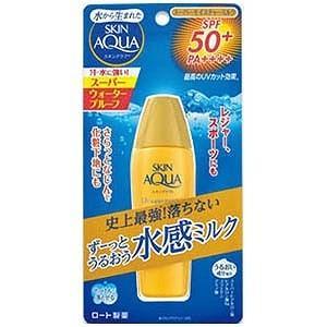 ロート製薬 モイスチャーミルク スキンアクア スーパーモイスチャーミルク SPF50+ PA++++ 40ml