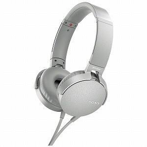 ソニー SONY ヘッドホン MDR−XB550APWC (ホワイト)