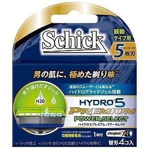 シックジャパン ハイドロ5プレミアムパワーセレクト 替刃 4個