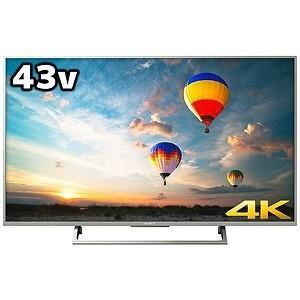 ソニー 43V型 4K対応液晶テレビ KJ-43...の商品画像