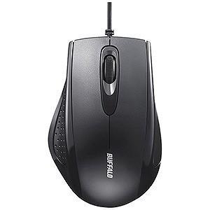 バッファロー 有線IR LED式マウス[USB 1.25m・Mac/Win](3ボタン) BSMRU050BK (ブラック)