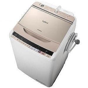 日立 全自動洗濯機 (洗濯8.0kg)「ビートウォッシュ」 BW−V80B−N (シャンパン)(標準設置無料)