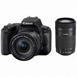Canon デジタル一眼 EOS Kiss X9(B)【ダブルズームキット】 (ブラック/デジタル一眼レフカメラ) EOSKISSX9BKWKIT|y-kojima