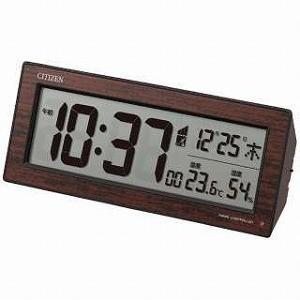 リズム時計工業 電波デジタル目覚まし時計 8RZ195023...