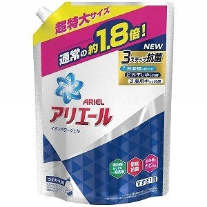 P&G ARIEL(アリエール)イオンパワージェル サイエンスプラス つめかえ用 超特大サイズ (1260g) 〔衣類用洗剤〕