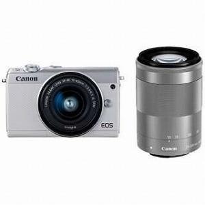 Canon EOS M100【ダブルズームキット】 (ホワイ...
