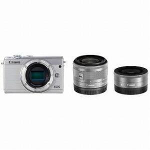 Canon ミラーレス一眼 EOS M100【ダブルレンズキット】 (ホワイト/ミラーレス一眼カメラ)|y-kojima