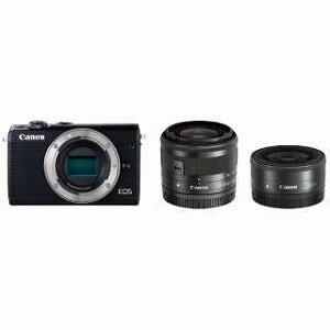 Canon ミラーレス一眼 EOS M100【ダブルレンズキット】 EOS M100(ブラック/ミラ...