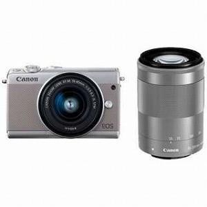Canon ミラーレス一眼 EOS M100【ダブルズームキット】 (グレー/ミラーレス一眼カメラ)