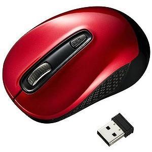 サンワサプライ 無線BlueLEDマウス[USB・Mac/Win](3ボタン・レッド) MA−WBL...
