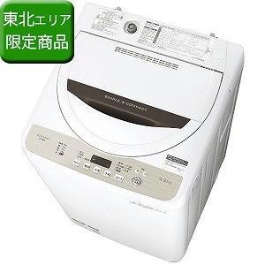 シャープ 全自動洗濯機 (洗濯4.5kg) ES−GE4B−C ベージュ系(標準設置無料) y-kojima