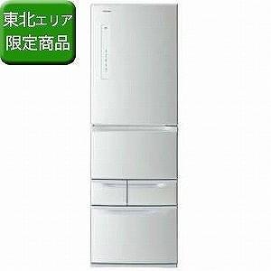 東芝 5ドア冷蔵庫 (411L・右開き) GR−M41G−S シルバー(標準設置無料)|y-kojima