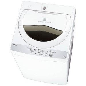 東芝 全自動洗濯機 (洗濯5.0kg) AW−5G6−W グランホワイト(標準設置無料)|y-kojima