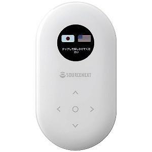 ソースネクスト 〔通訳デバイス:Wi−Fi or SIMカード〕 POCKETALK(ポケトーク)ホワイト+専用グローバルSIM (2年) y-kojima
