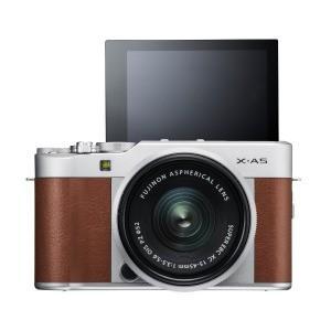 富士フイルム ミラーレス一眼カメラ (レンズキット) X−A5 ブラウン y-kojima 03