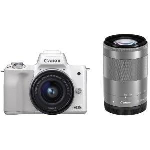 Canon ミラーレス一眼カメラ EOS Kiss M(ダブルズームキット) ホワイト