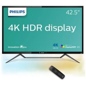 フィリップス 42.5型ワイド 4K対応MVA液晶ディスプレイ 5年間フル保証  HDR400 436M6VBRAB/11 ブラック
