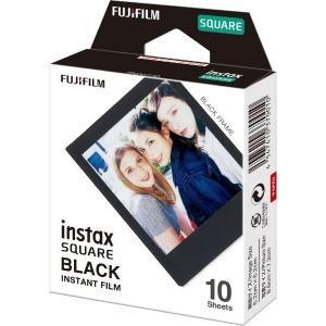 富士フイルム チェキ  「instax SQUARE BLACK」 1パック(10枚入) INSTAXSQUAREBLACKFRA