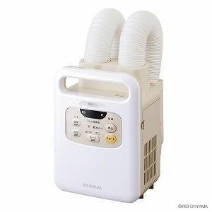 アイリスオーヤマ ふとん乾燥機 カラリエ ツインノズル KFK−W1−WP [マット無タイプ]|y-kojima
