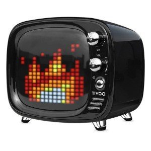 TIVOO レトロTV型モニター搭載 Bluetoothスピーカー ブラック DIV-TIVOO-BK
