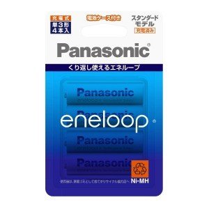 パナソニック 【単3形ニッケル水素充電池】 4本「eneloop」(スタンダードモデル) BK−3MCC/4C|y-kojima