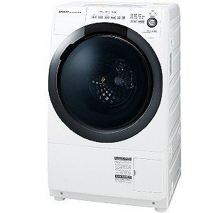 シャープ ドラム式洗濯乾燥機 [洗濯7.0kg/乾燥3.5kg/右開き] ES−S7D−WR ホワイト系(標準設置無料)の画像