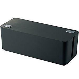 エレコム ケーブルボックス 「幅400mm」 EKC‐BOX001BK (ブラック)